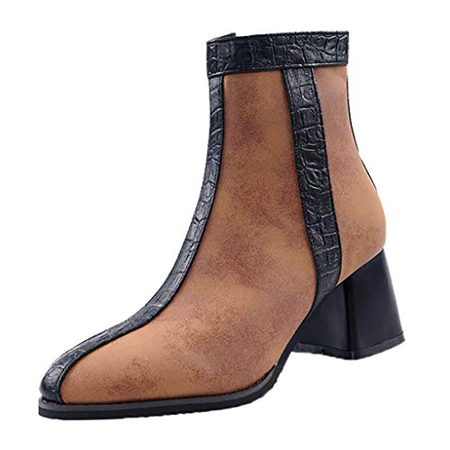 JJHAEVDY Women's Chelsea Boots Suede Leather Ankle