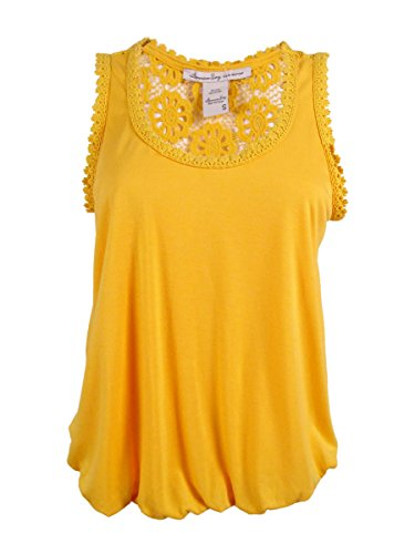 American Rag Women's Sleeveless Crochet Back Top (S, (American Rag Sleeveless)