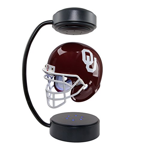 Sooners Mini Helmet Oklahoma (Oklahoma Sooners NCAA Hover Helmet - Collectible Levitating Football Helmet with Electromagnetic Stand)