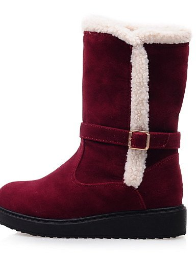 Uk7 Botas Mujer Plataforma Rojo Semicuero 10 5 Beige Cn42 Black us9 Casual us9 Red De Nieve Eu41 Zapatos Negro 8 Xzz 10 5 5 wEqfItax