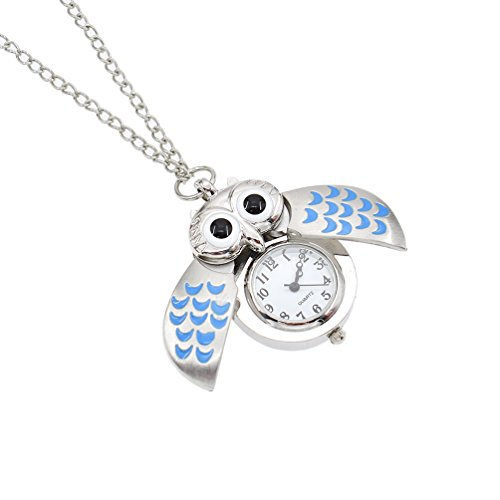 Super mall super mall part 10 cute owl clock pendant necklace vintage flying owl quartz pocket watch gift one mozeypictures Images