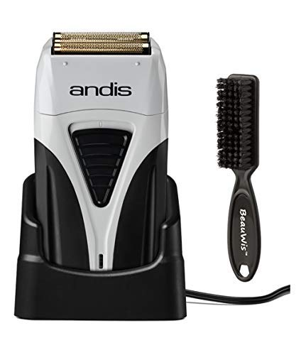 Andis Cordless Profoil Lithium Plus Titanium Foil Shaver with BeauWis Blade Brush by Andis