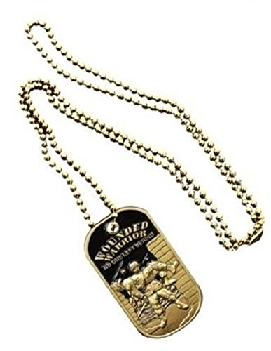"USAF Army Wounded Warrior ""No ONE Left Behind"" Brass Black E"