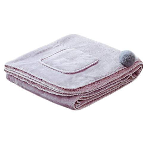 60*170cm|Pink JBHURF Châle Paresseux Petite Petite Petite Couverture Épaisse Dortoir Étudiant Hiver Corail Couverture De Nappe en Polaire 60 * 170CM (Couleur  Pink, Taille  60 * 170cm) 3fb153