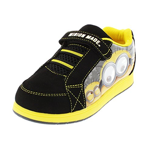 Despicable Me Minions Boys Skate Sneakers Shoes (12 Little Kid, Minion Made Black/Yellow) (Despicable Me Shoes)