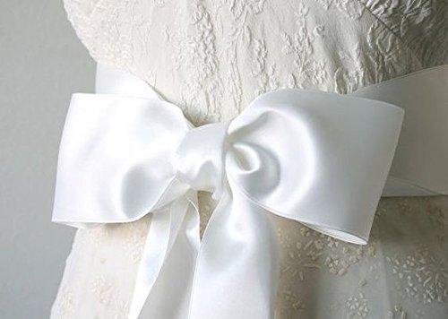 LaRibbons 3 inch Wide Double Face Satin Ribbon - 25 Yard (White) by LaRibbons (Image #5)