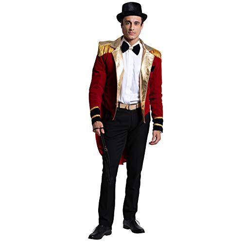 Yandy Exclusive Deluxe Red Velvet Mr. Ringmaster Circus Cosplay Costume Large]()