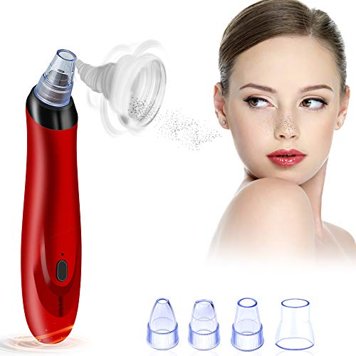 (Blackhead Remover 5- in-1 Pore Vacuum Electric Blackhead Extractor USB Rechargeable 3 Adjustable Strength Beauty Exfoliators Comedone Machine Pore Cleanser for Acne Facial Pore Clean)