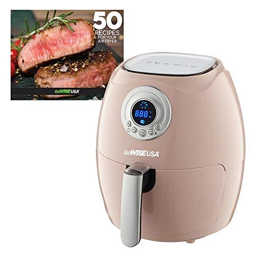GoWISE USA GW22663 GW22662 2.75-Quart Air Fryer + 50 Recipes (Blush), Qt