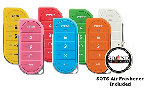 Viper Colored Cases for the 7856V 2 Way LED Transmitter Red, Orange, Yellow, Green, Blue, Pink, and White with a FREE SOTS Air Freshener Included (Pink Start Remote Viper)