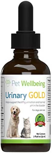 Pet Wellbeing - Urinary Gold for Dogs - Natural Support for Dog Urinary Tract Health - 2oz (59ml)