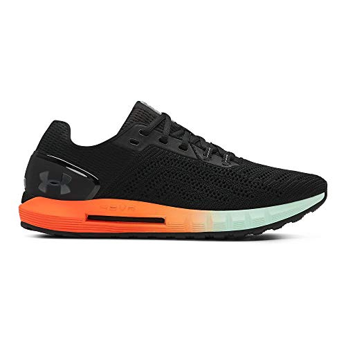 Under Armour Men's HOVR Sonic 2 Running Shoe, Black (001)/Orange Glitch, 9 (Best Running Shoes For Marathon Runners)