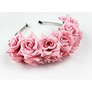 Women's / Flower Girl's Fabric Headpiece-Wedding Headbands 1 PieceFlower 60cm,Blushing Pink