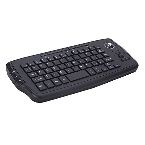 Wireless Keyboard Mouse 2 in 1 2.4Ghz Mini Mouse Trackball Portable Handheld Android Windows Desktop