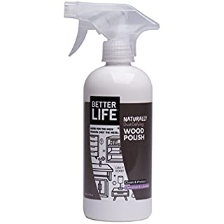 Better Life Natural Wood Polish, Cinnamon and Lavender, 16 Ounce, 24195