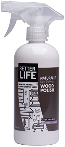 Better Life Natural Wood Polish, Cinnamon and Lavender, 16 Ounce, 24195 - Luxurious Clean Natural