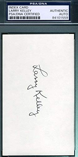 LARRY KELLEY PSA DNA Coa Autograph 3x5 Index Card Hand Signed Authentic
