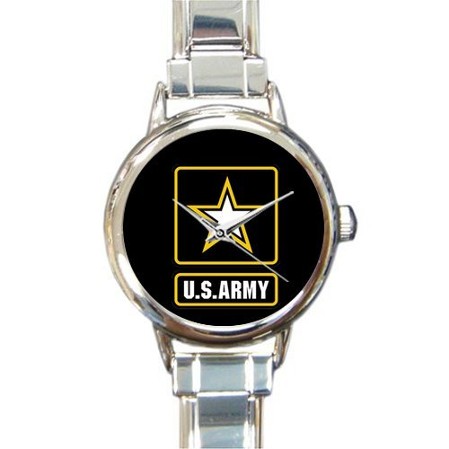 Hot Sale Watch Military US Army Round Italian Charm stainless steel Watch