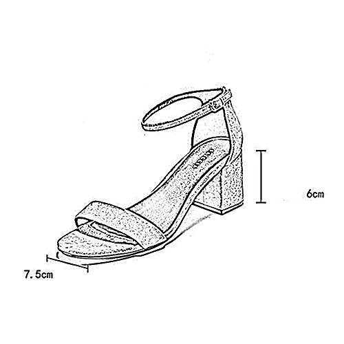 Sandals ZHIRONG Comfortable Open Toe Party With Flat Bottom Summer Women's Shoes One-button Buckle 6cm (Color : C, Size : EU39/UK6/CN39) A