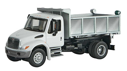 Walthers International(R) 4300 Single-AXLE Dump Truck - Assembled -- White with Utility Company Decals