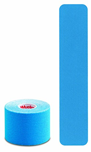 Mueller Sports Medicine Kinesiology Tape I-Strip Roll (20 Strips), Blue, 2
