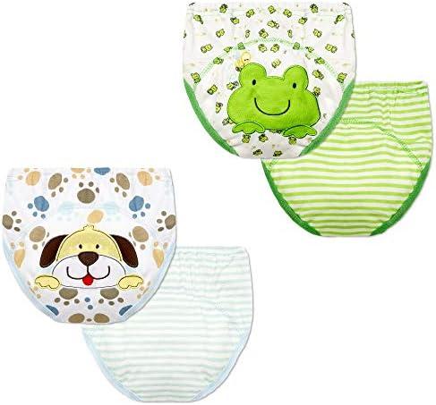 Bebé Aprendizaje Pantalones Ropa interior Paño de algodón Pañal ...