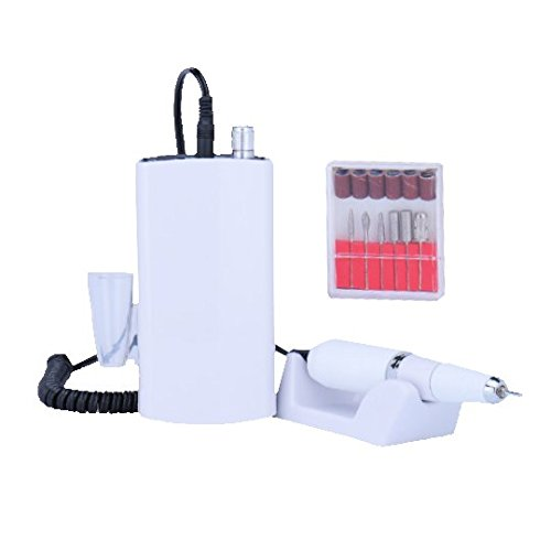 Miss Sweet Nail Drill Machine Electric Nail File Acrylic Gel Nail Grinder Tool RPM30000 (White) Review