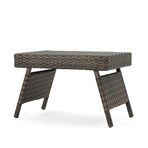 (Christopher Knight Home Thelma Outdoor Mixed Mocha Wicker End)