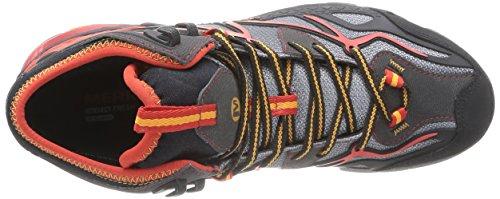 Merrell Capra Mid Sport GTX, Scarpe da Escursionismo Uomo Grau (Light Grey/Red)