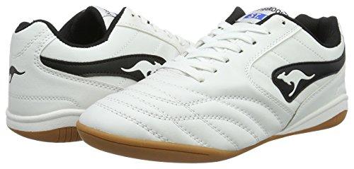 B KangaROOS Herren White 3021 K Black 005 Weiß Sneaker Yard PwxqAxgt