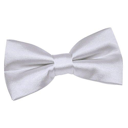 Silver Tied Men Plain Satin Wedding DQT Tie Tuxedo Pre Bow 6znqfWRgWc