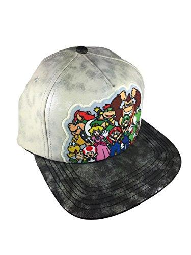 Nintendo Super Mario Brothers Mens Flat Brimmed Baseball Cap Hat