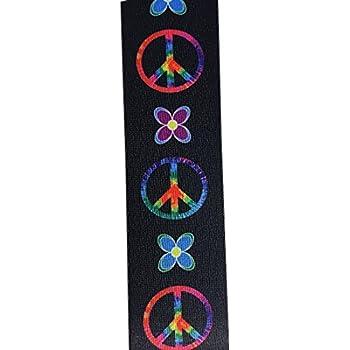 amazon com master strap guitar strap peace sign neon black rh amazon com