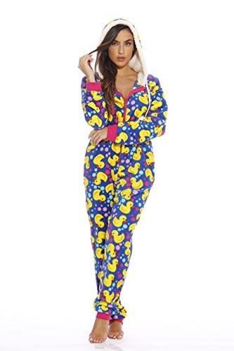 6417-S Just Love Adult Onesie / Pajamas, Small, Ducky -