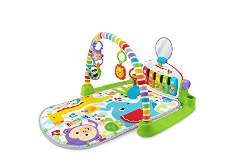 Fisher-Price Kick and Play Piano Gym, New-Born Baby Play Mat with Activity...
