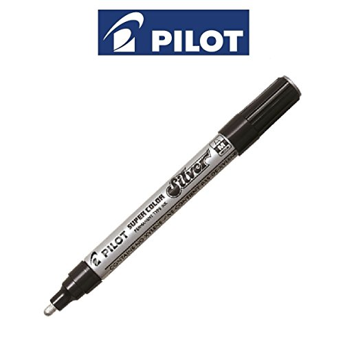 Pilot Paint Markers (Pilot Metallic Super Color Silver Medium (2Mm Line Permanent Marker Paint Pens (1 Pen))