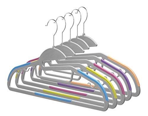Discount Home-it 30 PACK Light-weight Clothes Hangers Non-slip Durable Clothes Hanger Hook Various Colors Perfect for Pants, dress, jacket, Underwear and Shirt Ultra Thin for sale