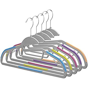 Home-it 30 PACK Light-weight Clothes Hangers Non-slip Durable Clothes Hanger Hook Various Colors Perfect for Pants, dress, jacket, Underwear and Shirt Ultra Thin