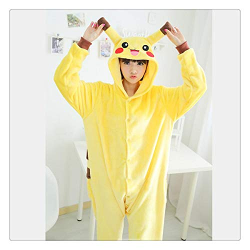 Cow Winnie Kitty Tiger Onesies Animal Costume Onesies Pajamas Pyjamas Owl Unisex Pijamas Lion Leopard cat Pig Bee Pikachu S ()