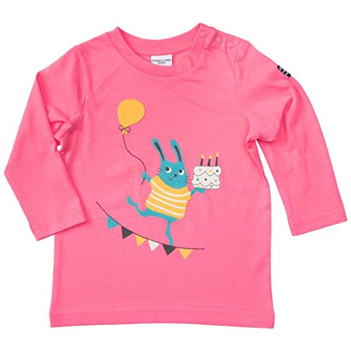 Polarn O. Pyret Anniversary Label Applique TOP (Baby) - 1.5-2 Years/Hot Pink ()