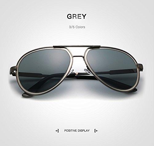 Gafas Jusheng diseñador para Nuevas de de Marca Hombre de Espejo Espejo Sol Blue Gray de Retro Pilot Gafas Sol de Color Sunglass polarizado Gafas Sol Hombres Gafas rr5Hwd6xqU