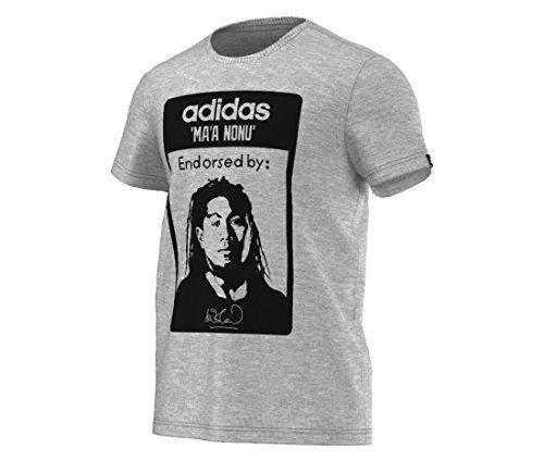 adidas Herren T-Shirt Gr. Small, Grau - Grau
