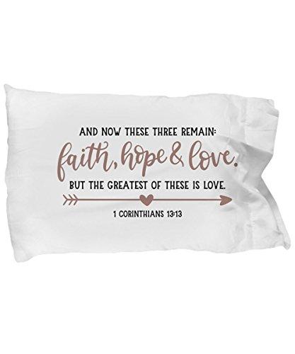 Pillow Case - Christian Inspirational Bible Verse Quotes Sayings - Faith Hope Love - Girls Teens Women Men - Decor Souvenir Home by daZenMonk