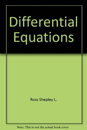 introduction to ordinary differential equations ross pdf