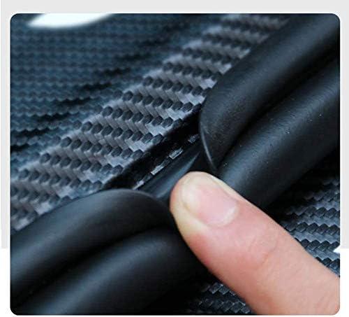 Seayahy 4Pcs Car Door Sill Protector For Nissan Qashqai 2016-2019,Carbon Fiber Car Door Scratch Scuff Plate Pedal Kick,Car Door Protection Bumper,Car Styling Trim Decoration Accessory