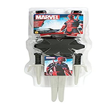 Deadpool Halloween Costume For Sale (Evolution's Co Men's Marvel Classic Deadpool Weapon Accessory Kit Halloween Costume)