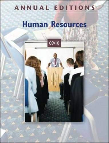 Annual Editions: Human Resources 09/10