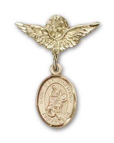 Icecarats Or Bijoux De Créateurs Rempli R. Martin De Tours Charme Ange Broche De Badge 1 X 3/4