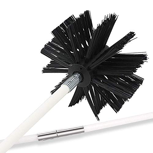 Holikme 20 Feet Dryer Vent Cleaning Brush, Lint Remover, Extends Up to 20 Feet, Synthetic Brush Head, Use with or Without a Power Drill