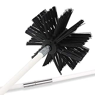 Holikme 25 Feet Dryer Vent Cleaning Brush, Lint Remover,Fireplace Chimney Brushes, Extends Up to 25 Feet, Synthetic Brush Head, Use with or Without a Power Drill